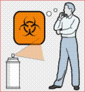 Si te han rociado una sustancia desconocida, párate a pensar sobre ello en vez de ver a un médico.